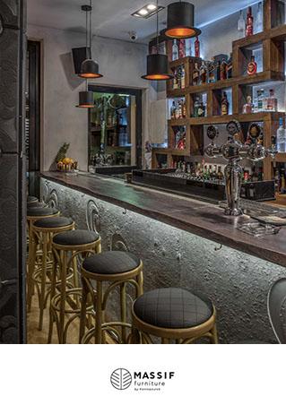 Κατάστημα Cafe Bar Mr Bogart – Massif Furniture